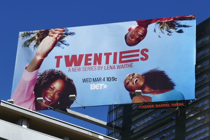 Twenties series launch billboard
