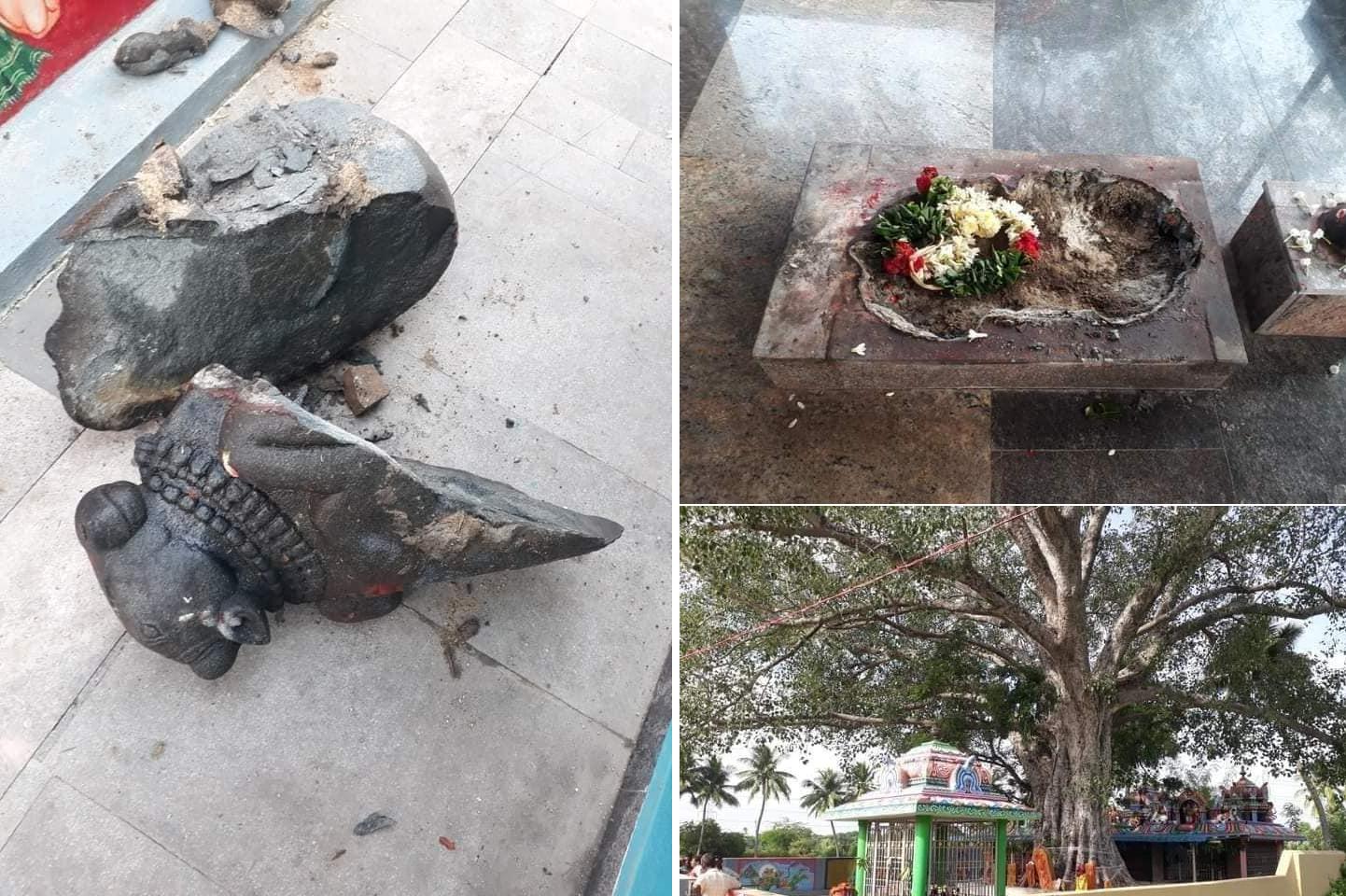 ఆంధ్రప్రదేశ్లో దాడి చేసిన మరో ఆలయం, చిత్తూరులో నంది విగ్రహం ధ్వంసం చేయబడింది - Another temple attacked in Andhra Pradesh, Nandi idol vandalized in Chittoor