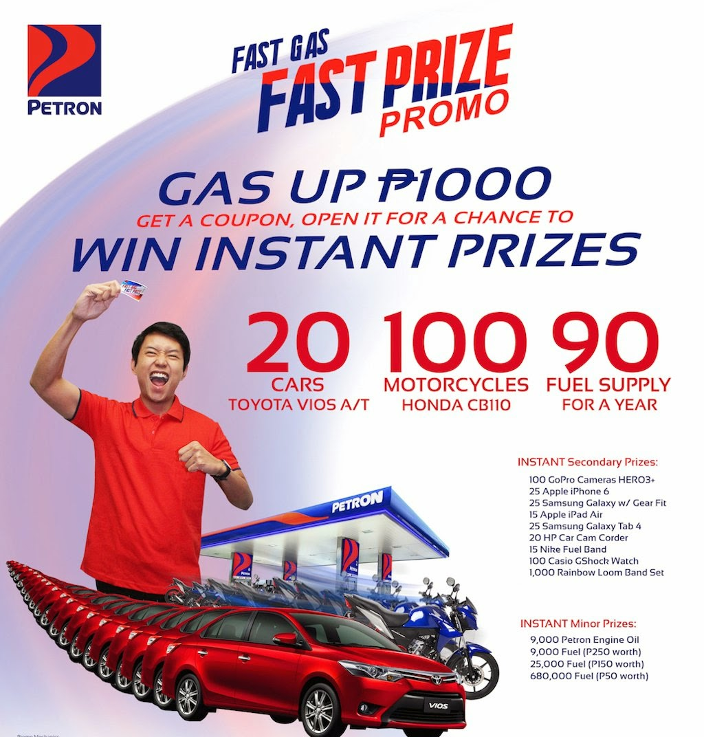 Instant Cars And Motorcycles At Stake In Petron Fast Prize