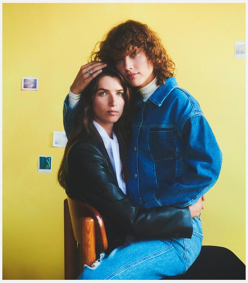 Couple Gigi Ringel and Eeva Lioni pose for Mango Family Portraits fall-winter 2021 campaign.