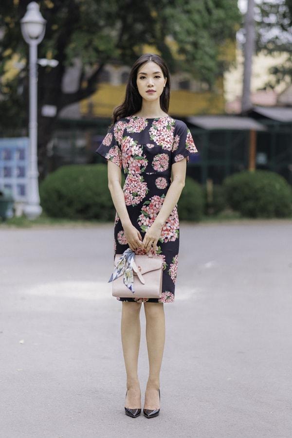 Hoa hậu Thùy Dung gợi ý chọn váy hoa cho nàng công sở - 10