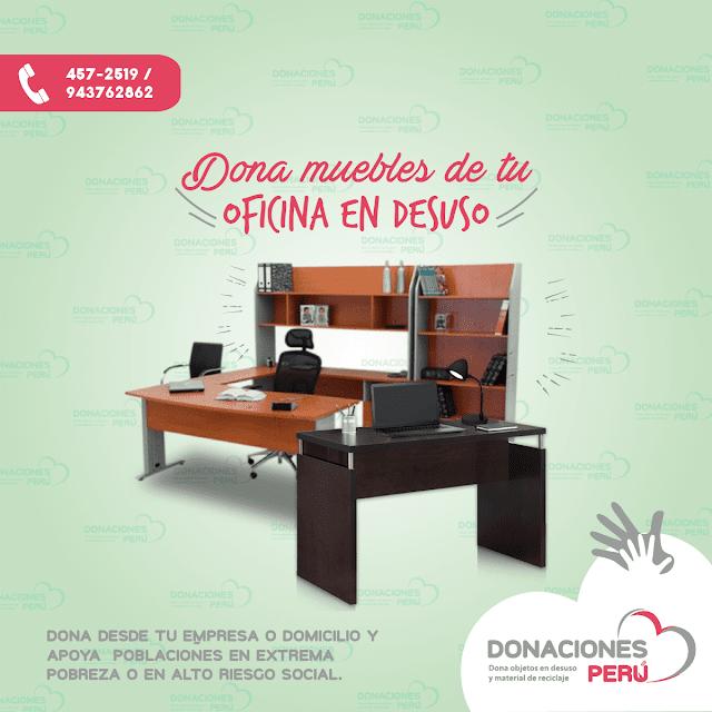 Dona muebles - Dona mesas - dona sillas - dona peru - dona y recicla - recicla y dona - donaciones peru