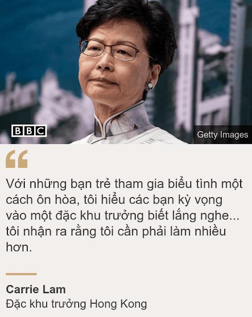 Bà Carrie Lam họp báo xin lỗi người dân Hồng Kông