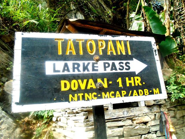 Tatopani one the way to Manaslu