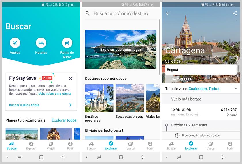 la mejor aplicación android de viajes