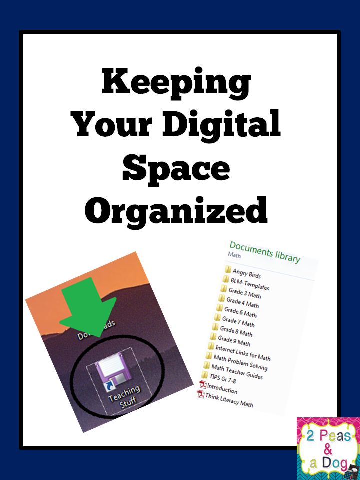 Guest blog post from Kristy at 2 Peas and a Dog who is talking about how to Keeping Your Digital Space Organized today.