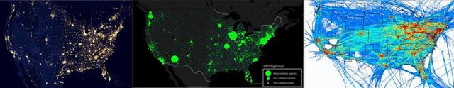 UFO news map