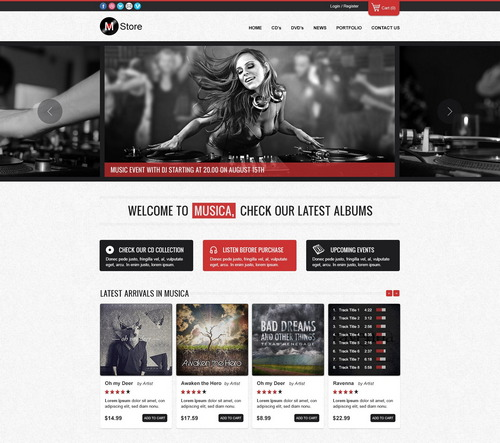 Musica E-commerce PSD Template