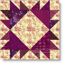 Ts in a Ring quilt block © W. Russell, patchworksquare.com