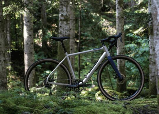 Choka air bike frame instantly inflates a flat tire