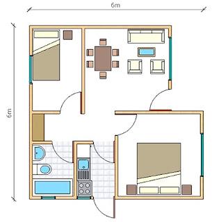 plano de Casas Prefabricadas Paine 36 metros cuadrados