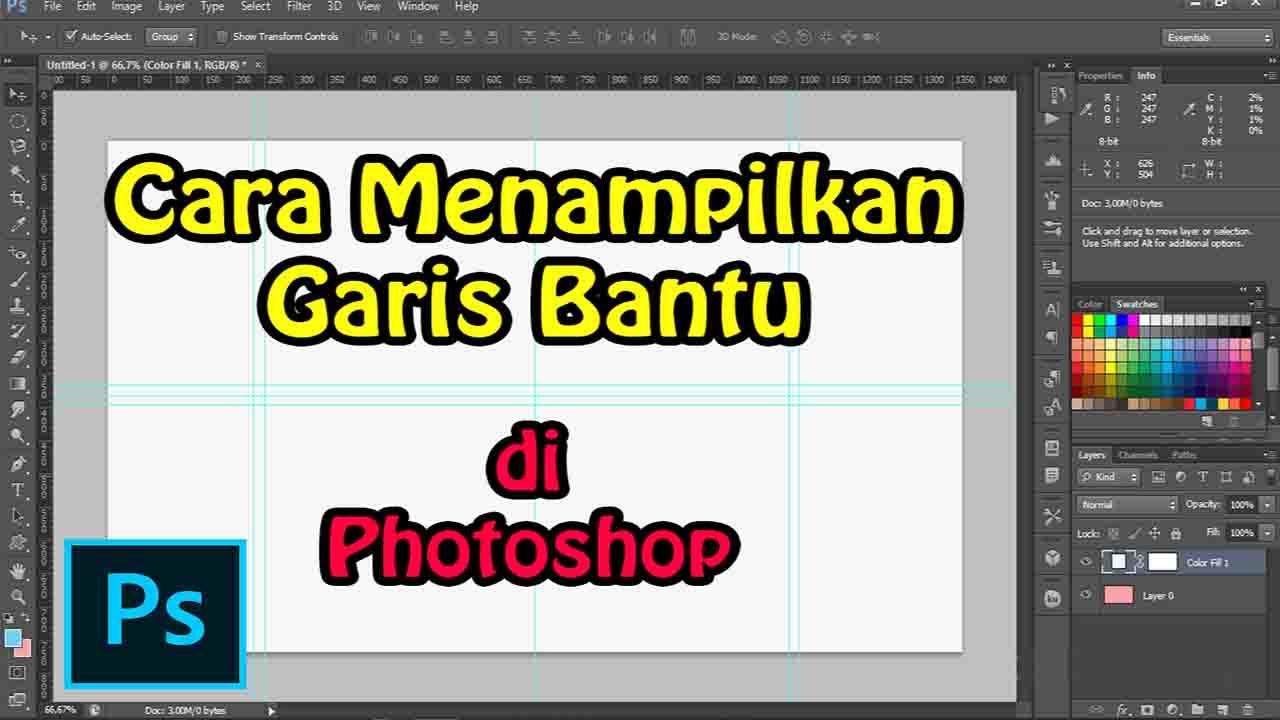 Cara Membuat Garis Bantu di Photoshop