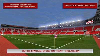 Update Stadium PES 6 BET365 Britania Stadium Stoke City HD
