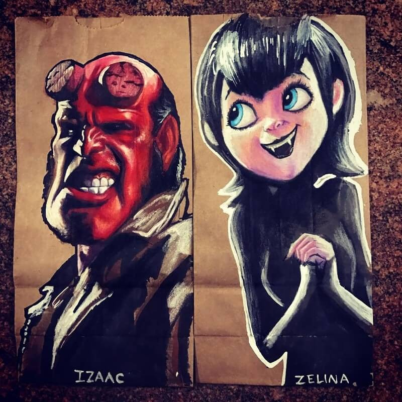 04-Hellboy-Hotel-Transylvania-L-Jinks-Brown-Bag-Art-Father-and-Drawings-for-Children-www-designstack-co