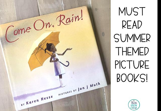 come on rain picture book activity