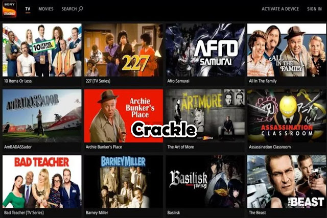 Crackle : Free Movie Streaming Sites No Sign Up