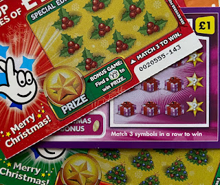 Lottery Scratchcards for Christmas 2019