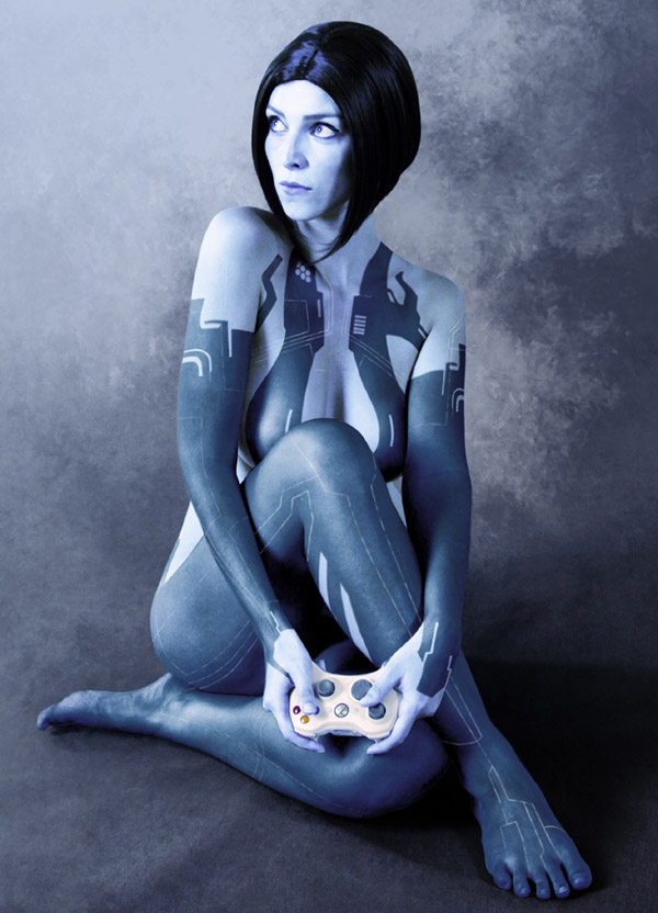 Hot cortana cosplay think