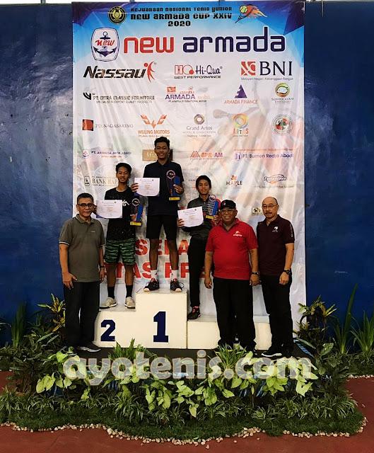 Atlet Pelti Kudus Borong Gelar Juara di Kejurnas Tenis Yunior New Armada Cup XXIV