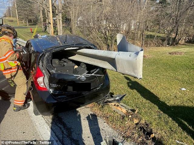 ضاحية مينوموني،  مدينة ميلووكي،  ولاية ويسكونسن، سائق سيارة،  استعمال الجوال،  حادث سيارة، مخاطر استعمال الجوال أثناء السياقة،   حربوشة نيوز