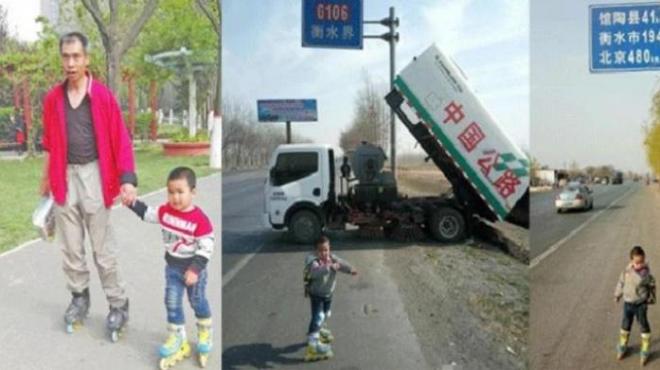 Anak 4 Tahun Pakai Sepatu Roda Jalan 540 Kilo Meter