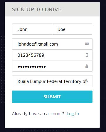 Day 0 - Uber Driver Registration | Malaysian Online Freelancer