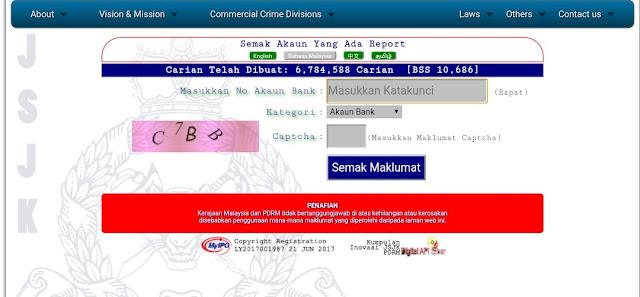 Semakan Status Scammer 2021 Online CCID (Report Fake)