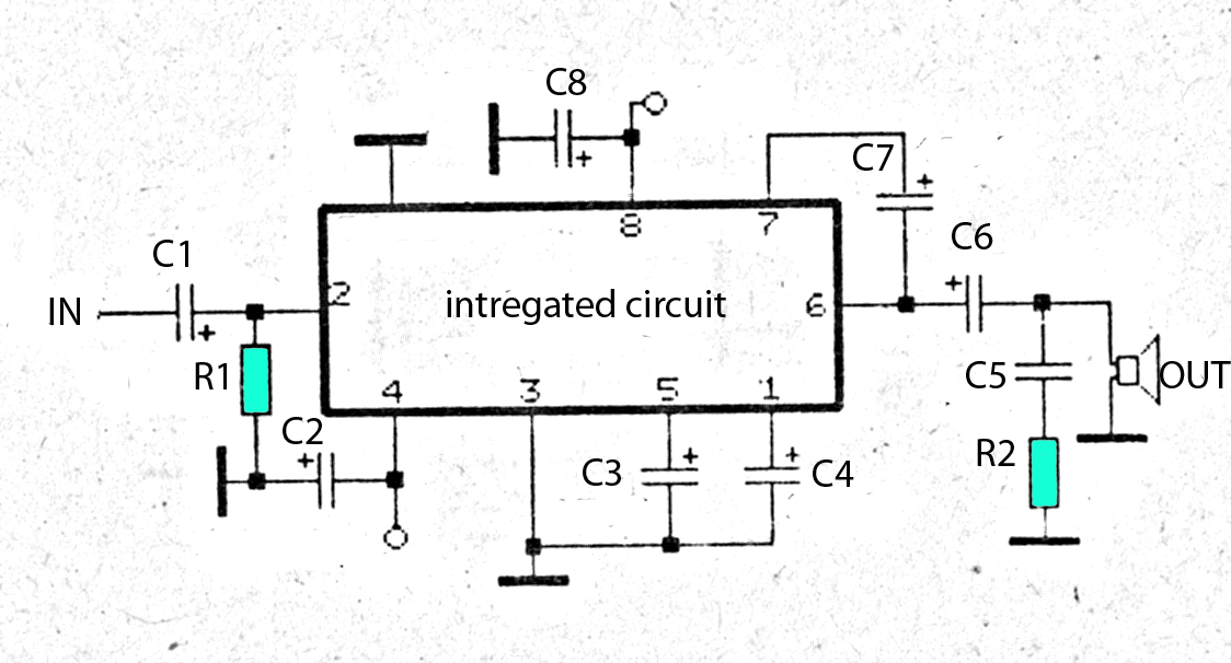 the circuit tda1910 monolithic integrated circuit