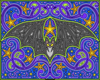 Happy Halloween! Bat knotwork