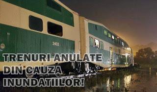 mersul trenurilor cfr trenuri anulate inundatii