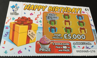 £1 Happy Birthday Scratchcard