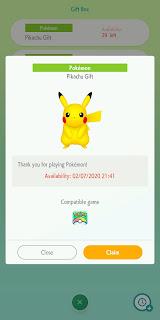 Mystery Gift Pokémon HOME