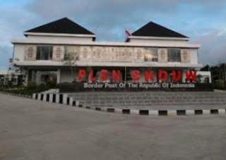 PLBN SKOUW yang dibangun oleh Kementeria PUPR menggunakan konsep kearifan lokal tanah papua