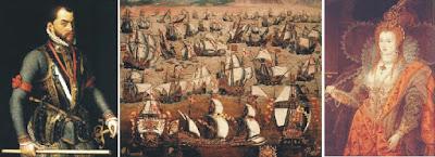Felipe II, Isabel I y las Invencibles armadas española e inglesa