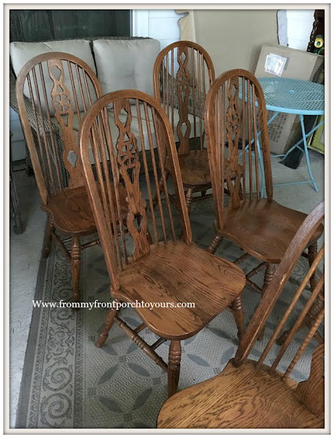 covered back porch-fiddleback chairs-curbside find- from my front porch to yours