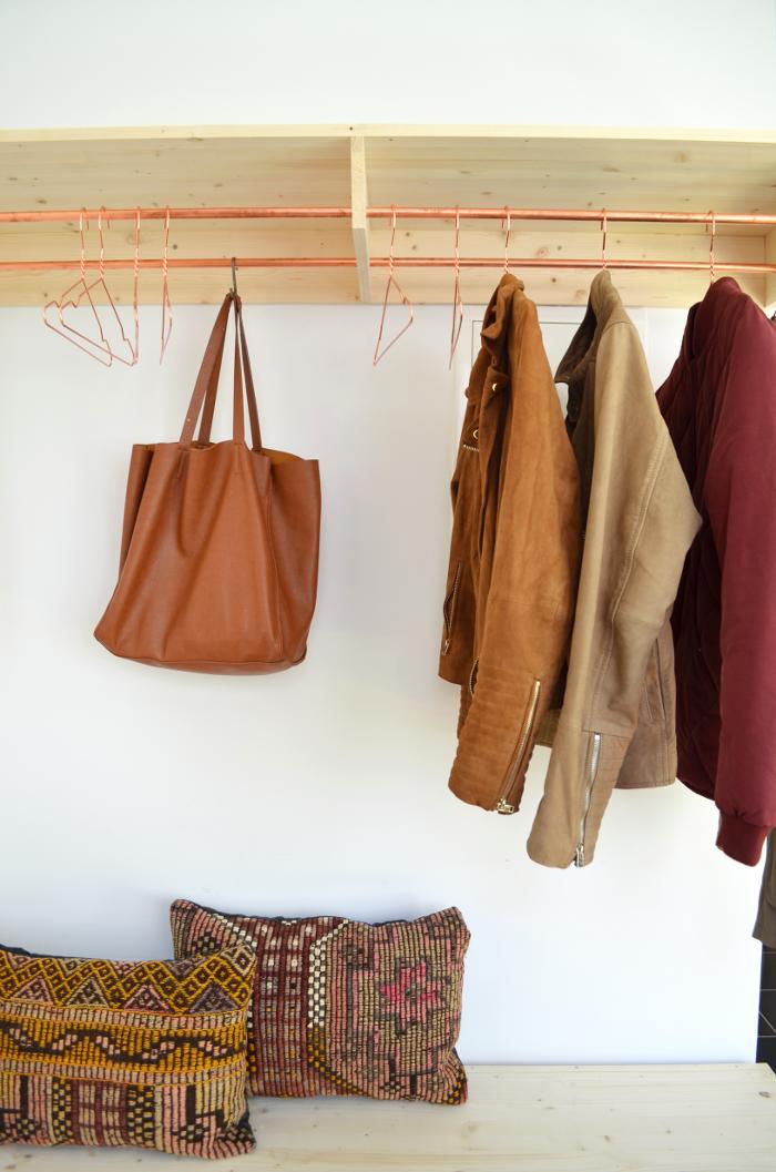 Garderobe Kupfer make it boho : diy | holz & kupfer garderobe und schuhbank