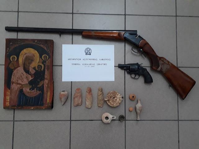 Συλληψη 54χρονου στη Λακωνία με αρχαία