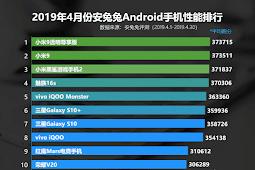 AnTuTu Nisan Ayının En İyi Android Telefonlarının Listesi Duyurdu