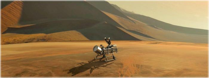 dragonfly - missão que irá explorar Titã, lua de Saturno