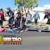 Jovem fica ferido após colisão envolvendo carro e moto