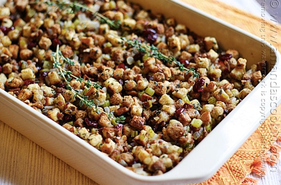 Stuffing with Parsley, Sage, Rosemary and Thyme from Amanda's Cookin'