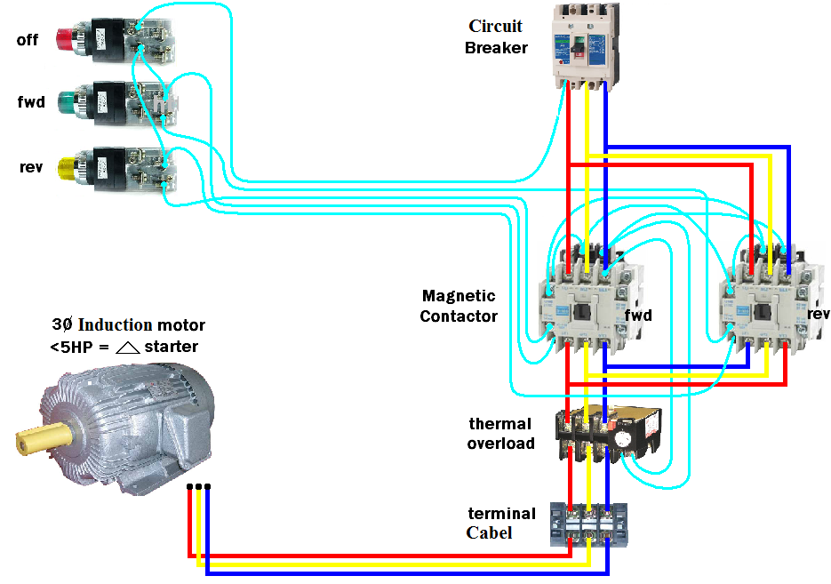 Wazipoint Engineering Science Technology Magnetic Contactor Connection Diagram