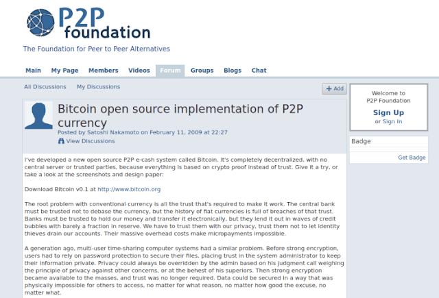Origen de las Criptomonedas y el Bitcoin Satoshi-nakamoto-post