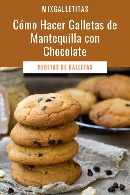 Cómo hacer galletas de mantequilla  con chocolate