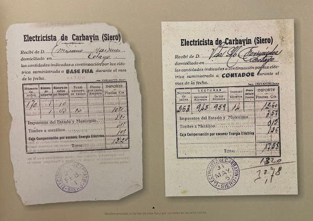 Recibos emitidos a clientes de base fija y por contador en los años treinta