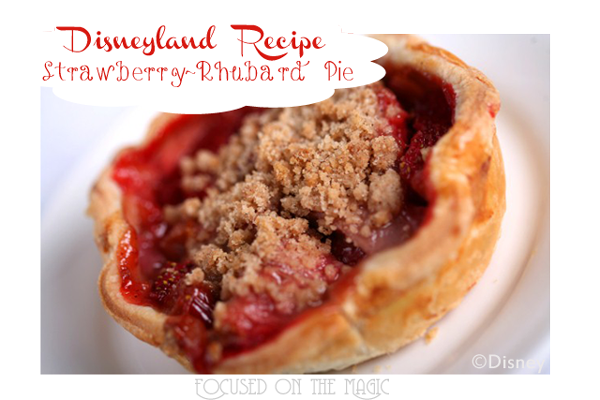 Disneyland's Flo's V-8 Cafe, Strawberry ~ Rhubard Pie Recipe