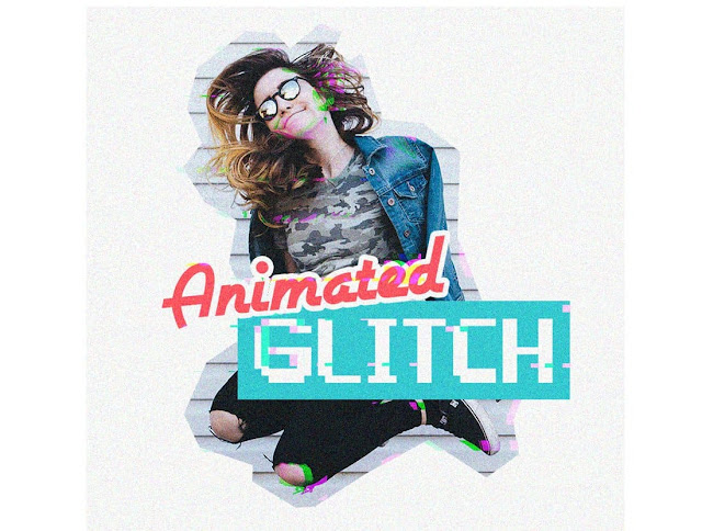 Photoshop Action Animasi Glitch Gratis