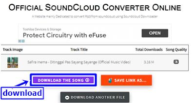 klik tombol download the song