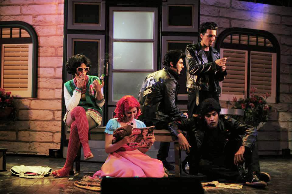 Grease The Musical Pakistan - Marty and Frenchi with Danny and the boys