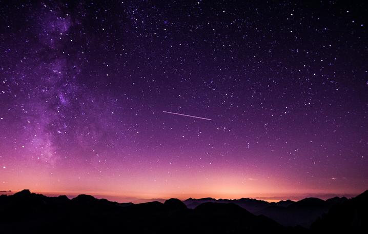 night sky Starlink